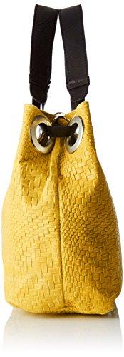 Chicca Borse 80059, Borsa a Tracolla Donna, 38x28x10 cm (W x H x L) Giallo