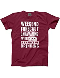 Weekend Forecast Caravanning with a Chance of Drinking - Mens Unisex T-Shirt 42ce3c529