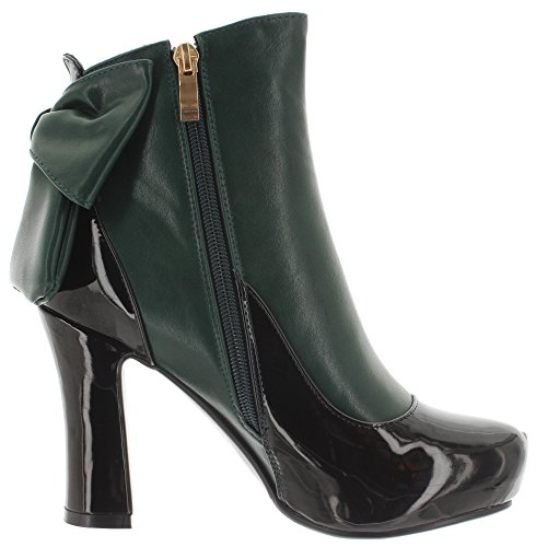 Banned Ankle Boots SADIE BND085 Black-Green