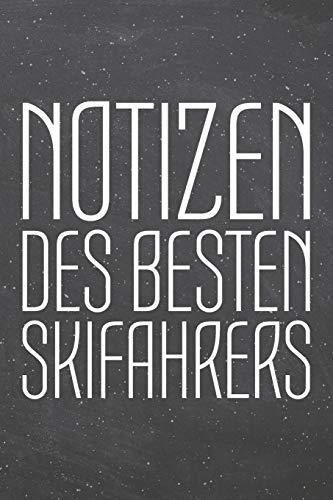 Notizen des besten Skifahrers: Skifahrer Punktraster Notizbuch, Notizheft oder Schreibheft | 110  Seiten | Büro Equipment & Zubehör | Lustiges Geschenk zu Weihnachten oder Geburtstag