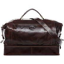 6bdef5accf SID & VAIN® borsa viaggio tracolla vera pelle vintage KINGSTON grande XL  borsone bagaglio a