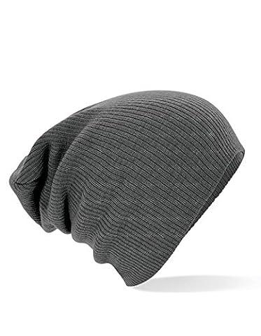 Bonnet Homme Gris - Beechfield - Bonnet Souple Taille Unique -