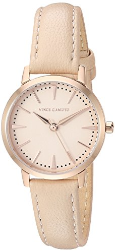 Vince Camuto Women's VC/5352RGBH Rose Gold-Tone and Light Pink Leather Strap Watch