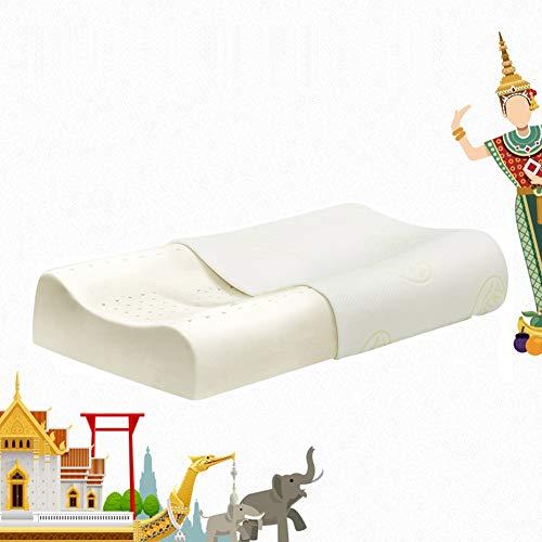 QWEYA Thailand Natürliche Importierte Latex Kissen Kern Wolf Zähne Gummi Kissen Erwachsene Massage Nackenkissen Allergie Schlafen Zurück Und Körper Kissen Familie Küche,1 - Kontur-massage-kissen
