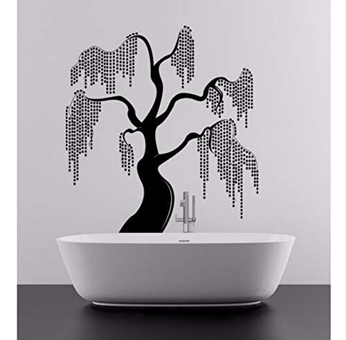 Lvabc Unique & Beautiful Willow Tree Design Fantasie In Der Natur Wandaufkleber Für Schlafzimmer Vinyl Wandbilder Aufkleber Wohnzimmer Dekor 42X45 Cm