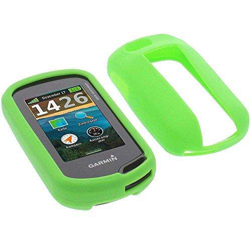 foto-kontor Tasche für Garmin Oregon 750t Oregon 750 Schutzhülle Silikon Case Schutz Hülle grün