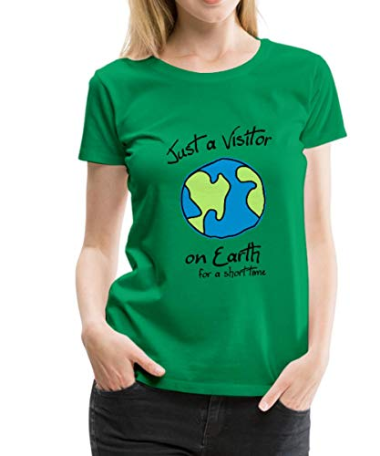 Spreadshirt Visitor on Earth Frauen Premium T-Shirt, XXL (44), Kelly Green