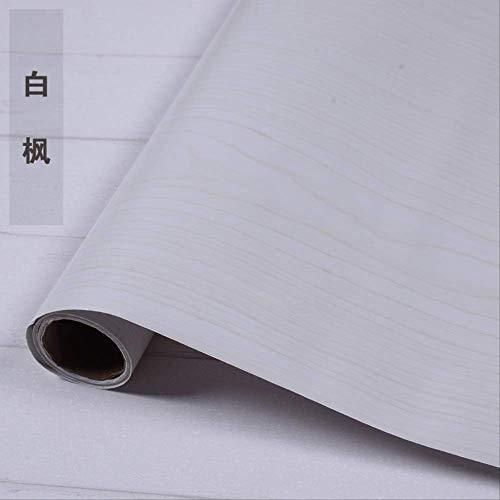 Pvc Aus Klebrigen Holz Schrank Tür Tapete, Kleiderschrank Küche Möbel Renoviert Wandpaste, Wasserdicht Verdickte Tapete Weißer Ahorn -