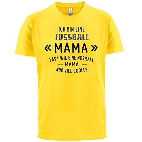 Ich bin eine Fussball Mama - Herren T-Shirt - 13 Farben Gelb
