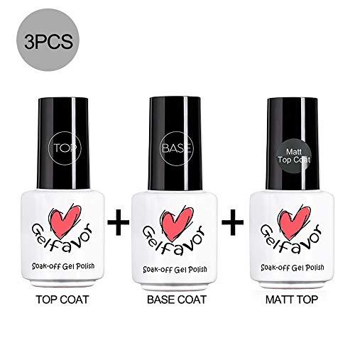Matt + Top + Base Coat Semi-Permanent Nail Gel Polish