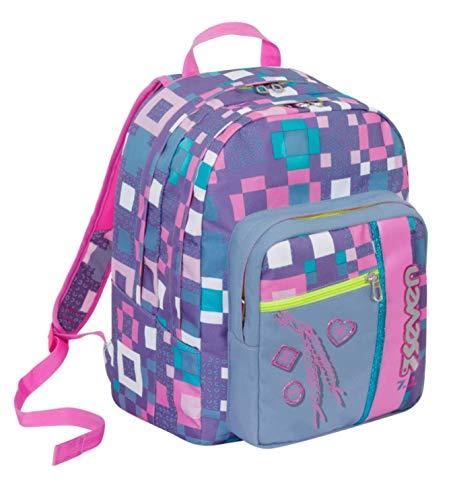 727c9a3f24 Zaino scuola outsize seven - bundle girl - rosa viola - 33 lt - inserti  rifrangenti