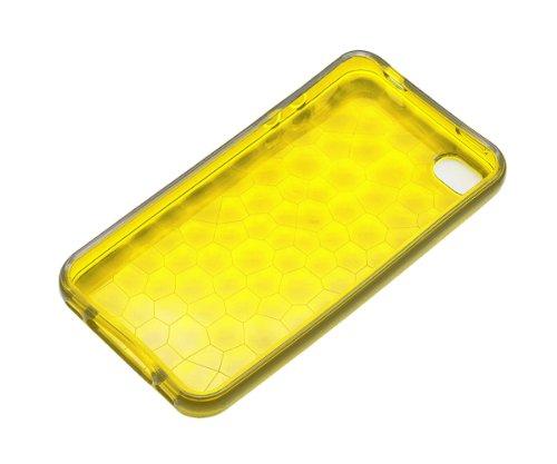 Xcessor Liquid Mosaic Flexible TPU Dos Étui Coque Housse De Protection Pour Apple iPhone SE / 5S / 5. Jaune / Transparent Jaune/Transparent