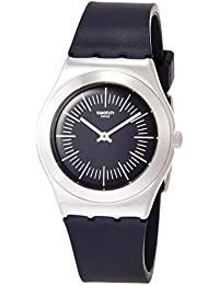 cd8863ab0e8 Swatch Womens Analogue Quartz Watch with Rubber Strap YLS202