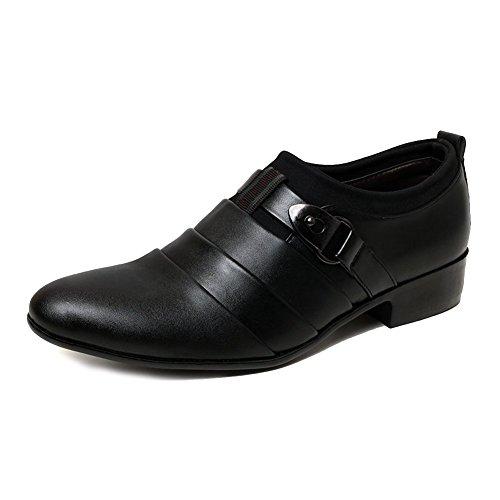 Minetom Herren Britisch Stil Stiefel Business Flach Schuhe Lace-up Spitzschuh Klassisch Oxford Formell Abendschuhe Schwarz EU (Springerstiefel Schwarze Erwachsene)
