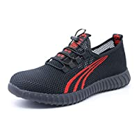 SafeByAlex Work Safety Shoes Steel Toe Sneaker for Men