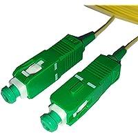 powergreen LATIGUILLO Fibra OPTICA SC/APC-SC/APC SIMPLEX 9/125 MONOMODO 1M