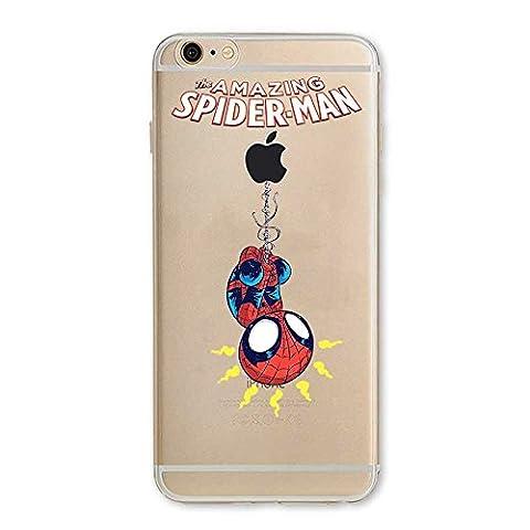 IP6 6S Couverture Coque Cover TPU GEL TRANSPARENT, doux, garde, protecteur, Marvel Collection Spéciale, Spider Man, iPhone 6 6S