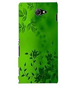 ColourCraft Beautiful Pattern Design Back Case Cover for SONY XPERIA M2 DUAL D2302