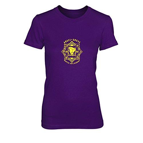 Planet Nerd Angel Grove Academy - Damen T-Shirt, Größe: XL, Farbe: Lila