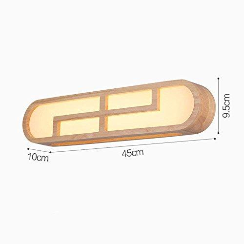 SED Bad Spiegel-Lampen-Nordic Chinesischen Kreative Einfachheit LED-Holz Kunst Spiegel Frontleuchte Studie Damen Lichter Korridor Wände Spiegel Front Licht (Stil Optional) - Make-up-Spiegel Scheinwer (Kunst Bad Pl)