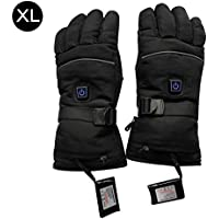 Winnerruby Rechargeable Heated Gloves, Electric Thermo Gloves Warmers Waterproof for Winter Warmer Outdoor Camping Hiking Hunting Cycling