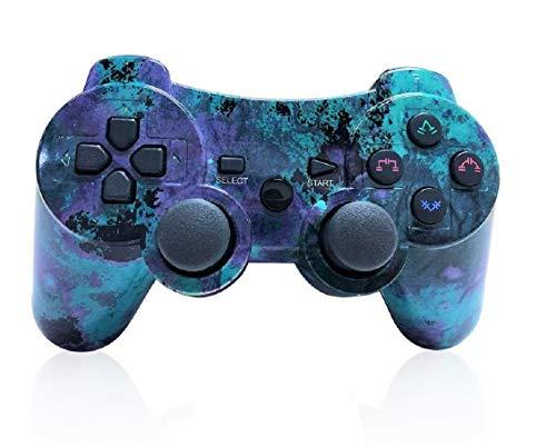 Controller PS3 Wireless mit Funktion DoubleShock und SIXAXIS für Playstation 3. (Bläulich Grün) (Controller Grün Ps3 Wireless)