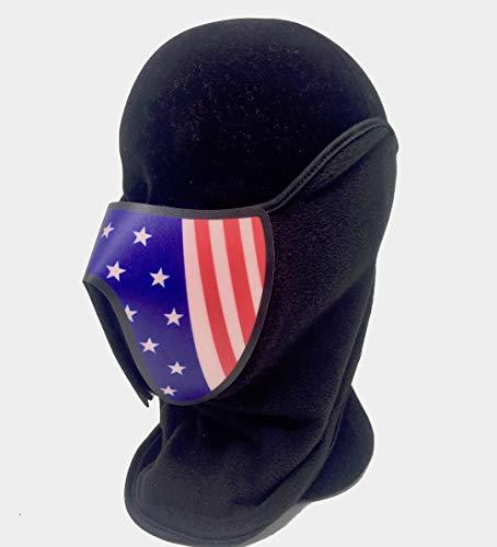 Super6props US-Flagge inspiriert LED EL Panel Maske, Rave -