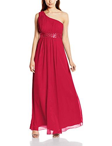 Astrapahl Damen Kleid One Shoulder mit Pailletten, Maxi, Einfarbig, Gr. 38, Rosa