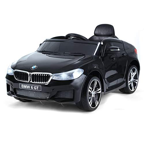 Homcom Voiture électrique Enfants 6 V 3 Km/h Max. Effets sonores et Lumineux télécommande Incluse Noir BMW 6 GT