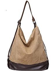 Pairs D - Bolso mochila  para mujer beige marrón large