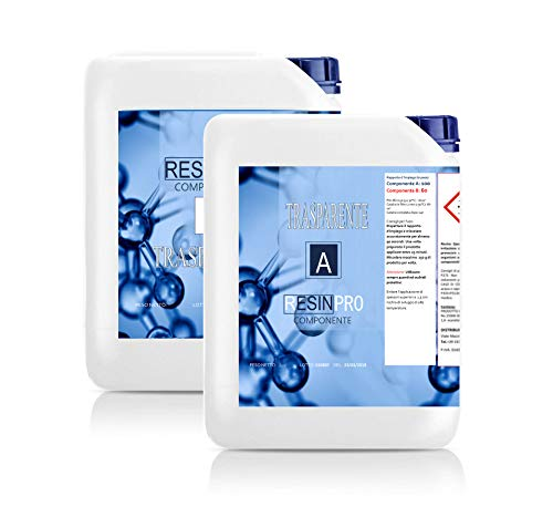 Resina epossidica trasparente/kg 8-Effetto acqua.