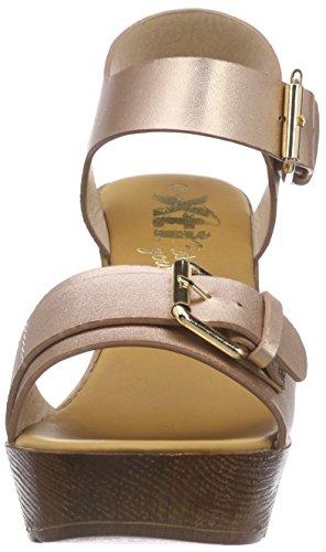 XTI - 45899, Scarpe col tacco con cinturino a T Donna Rosa (Rosa (Rosa))