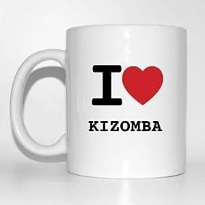 I Love kizomba Tasse à café Tasse Cup Mug–Couleur: Blanc