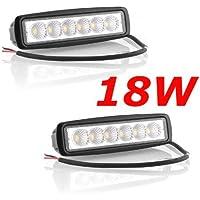 MIRACLE 2 X 18W LED Faro de trabajo de la luz de camiòn Làmpara auxiliar adicional 9-32v