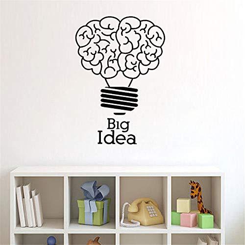 wlwhaoo Große Idee Glühbirne Idee Wandaufkleber Wohnkultur Wohnzimmer Schlafzimmer Dekoration Kinder Kinderzimmer Wandtattoos gelb 42x30cm -
