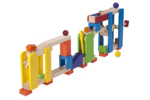 Wonderworld Trix Tracks - Circuito de madera con mazos y bolas