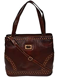 ZINT PURE LEATHER / GENUINE LEATHER BROWN HANDMADE SHOULDER BAG TOTE BAG SHOPPING BAG PURSE WOMEN'S HANDBAG / GIFTS FOR HER