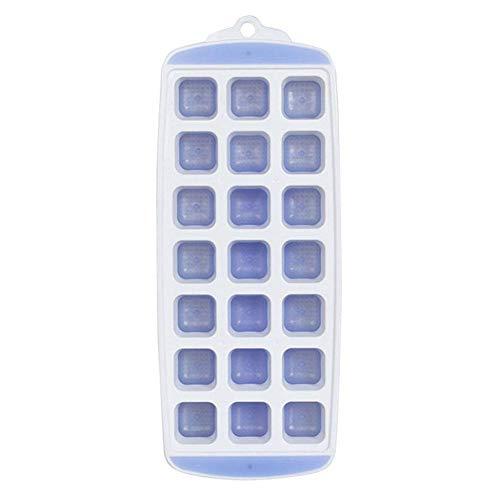 Eiswürfelform, Kreative Persönlichkeit, Silikon, Eiswürfelform, Haushalt, Eiswürfel, Eiswürfel, Kühlschrank, quadratisch, Kunststoff mit Deckel