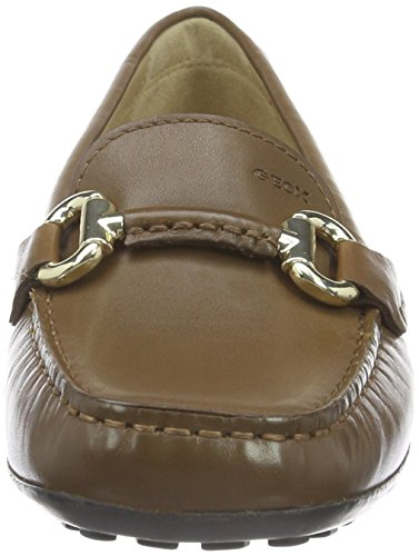 Geox Euro D, Mocassini Donna Marrone (Dk Camel Cd500)