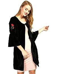 Aashish Garments Black Bell Sleeves Velvet Shrug