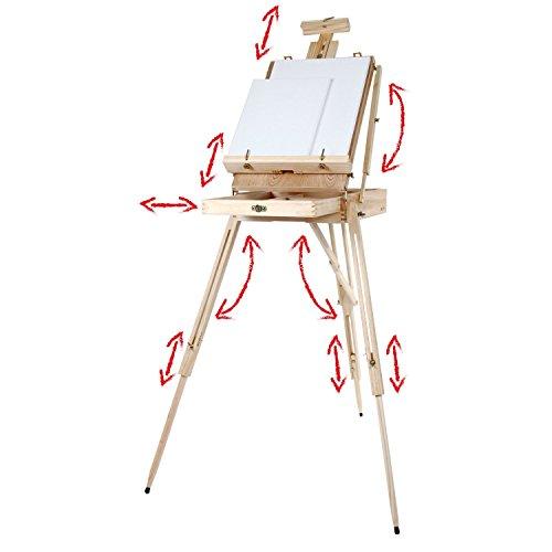 comprare on line Artina Cavalletto tripode per pittura Madrid - da tavolo o da campagna - cassetta valigetta integrata - legno di pino prezzo