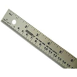 1metro de aluminio regla Dual marcados Métrico & Imperial–R391–1