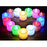 CrownLit's Pack Of 24 Color Changing LED Candles For Festivals, Weddings, Birthdays.