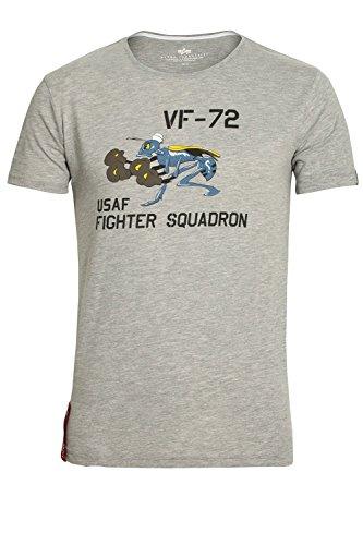 ALPHA INDUSTRIES Fighting Hornet T-Shirt | Heather Grey Heather Grey