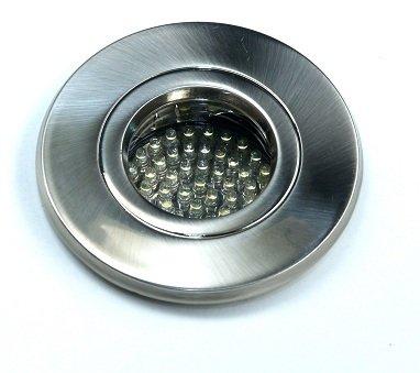Bad Einbaustrahler Ip65 Out65 Edelstahl Gebrstet Inkl 230v Gu10 Hochvolt Fassung Und 60er Led Leuchtmittel Warmwei 3000k