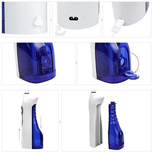 Duomishu Oral Irrigator tragbarer Zahnreiniger Munddusche für Zahnpflege zahnmedizinische orale Munddusche zur Reinigung der Zahnzwischenräume -