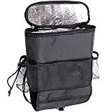 #9: Insasta Multifunctional car seatback Insulated thermal cooler bag organizer tissue Box fabric storage hanging bag Travel Car Seat Back (Color May Vary)