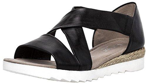 Gabor Comfort Sport Sandalette in Übergrößen Schwarz 82.711.27 Große Damenschuhe, Größe:42.5 (Sandalen Große Füße)