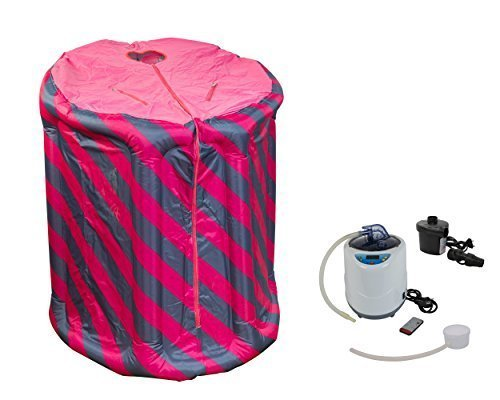 Tragbare Dampfsauna pink/blau aufblasbar