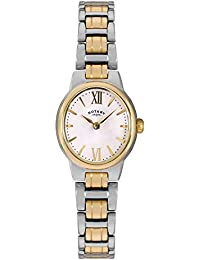Rotary Women's Quartz White Dial Analogue Display and Gold Stainless Steel Bracelet LB02747/01